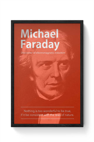 Framed Posters Online India | Michael Faraday Framed Poster Online India