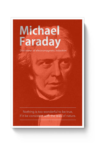 Posters Online | Michael Faraday Poster Online India | Designed by: Yash Banka