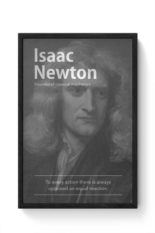 Framed Posters Online India | Isaac Newton (B&W) Framed Poster Online India