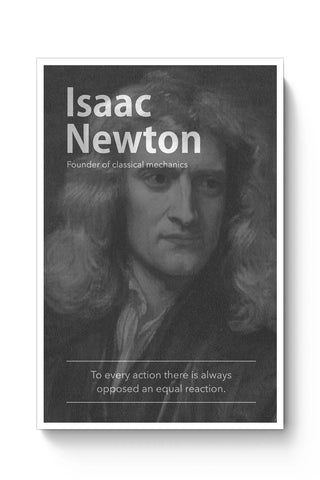 Posters Online | Isaac Newton (B&W) Poster Online India | Designed by: Yash Banka