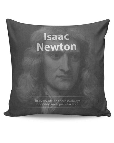 PosterGuy | Isaac Newton (B&W) Cushion Cover Online India