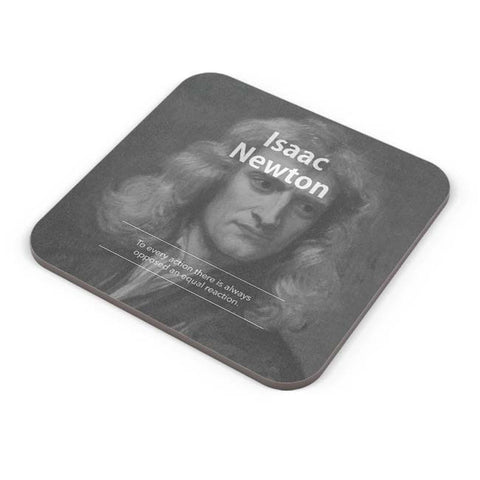 Buy Coasters Online | Isaac Newton (B&W) Coaster Online India | PosterGuy.in