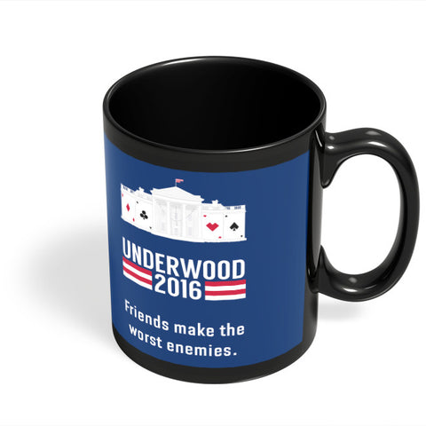 Coffee Mugs Online | House Of Cards Quote Black Coffee Mug Online India