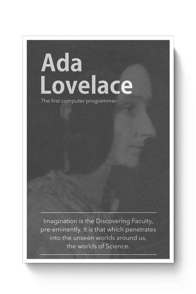 Ada Lovelace (B&W) Poster Online India