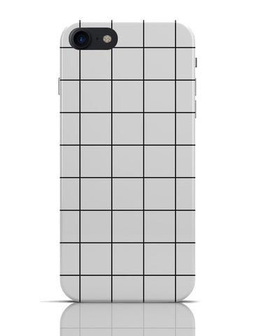 Monochromatic Grid V1.0 iPhone 7 Covers Cases Online India