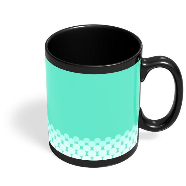 Gradient Circles - Aqua Black Coffee Mug Online India