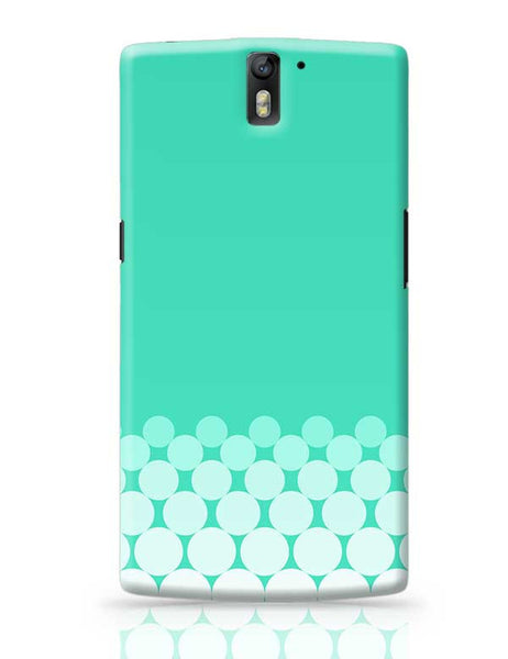 Gradient Circles - Aqua OnePlus One Covers Cases Online India