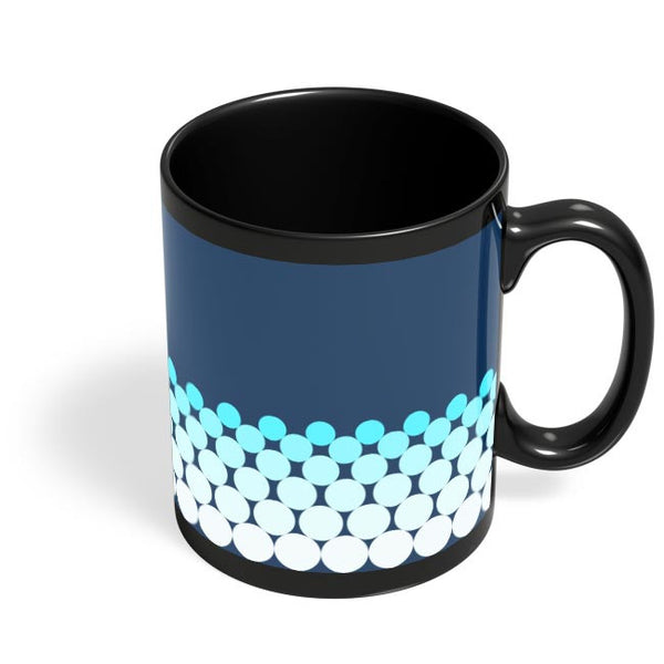 Gradient Circles - Night Black Coffee Mug Online India