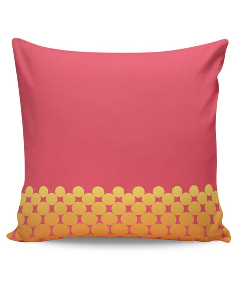 Gradient Circles - Fire Cushion Cover Online India