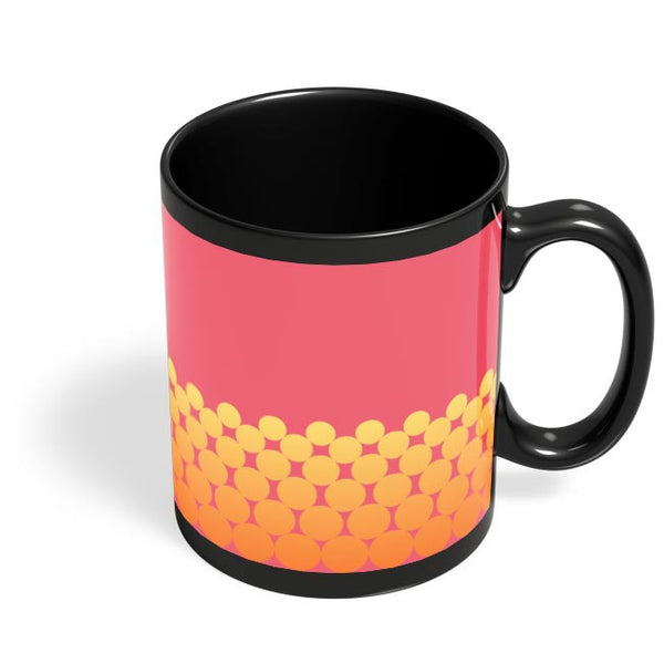 Gradient Circles - Fire Black Coffee Mug Online India