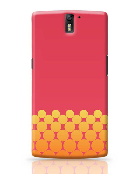 Gradient Circles - Fire OnePlus One Covers Cases Online India