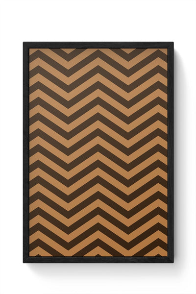 Brown Zig-Zag Framed Poster Online India
