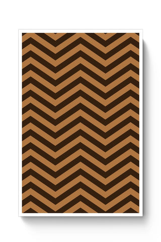 Brown Zig-Zag Poster Online India