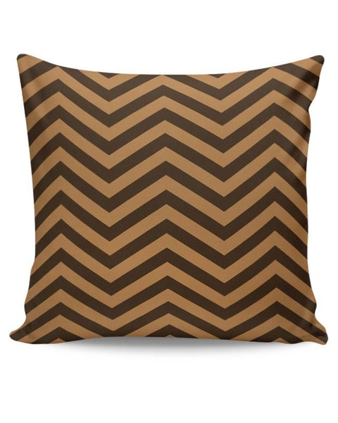 Brown Zig-Zag Cushion Cover Online India