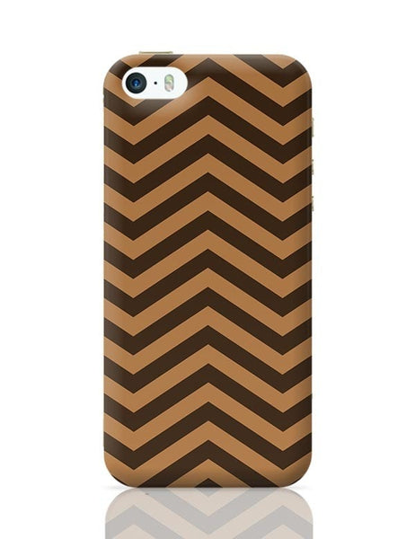 Brown Zig-Zag iPhone 5/5S Covers Cases Online India