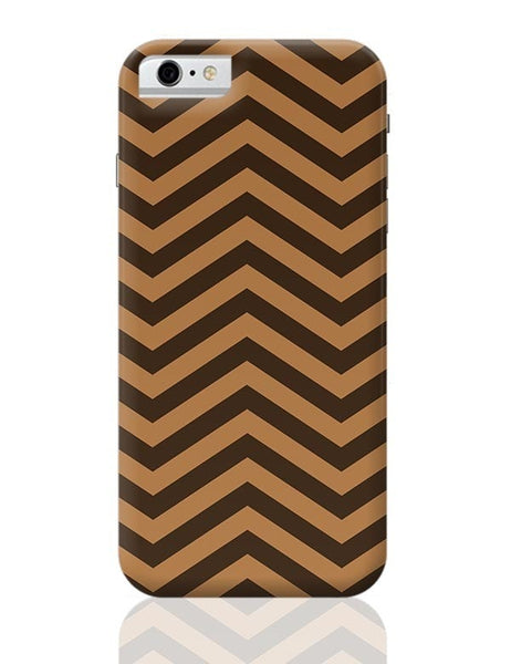 Brown Zig-Zag iPhone 6 6S Covers Cases Online India