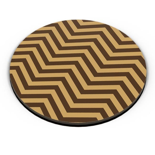 Brown Zig-Zag Fridge Magnet Online India