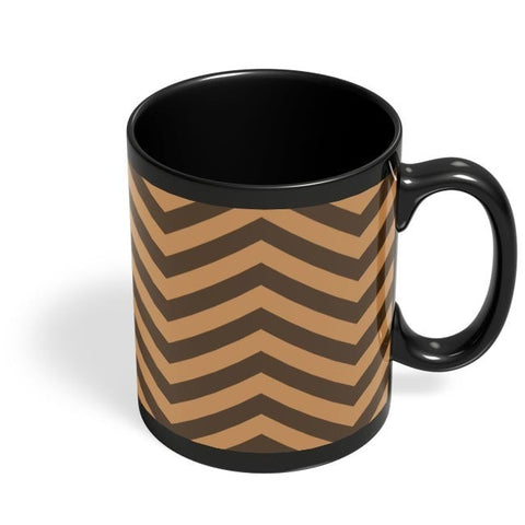 Brown Zig-Zag Black Coffee Mug Online India