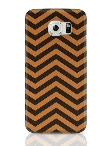 Brown Zig-Zag Samsung Galaxy S6 Covers Cases Online India