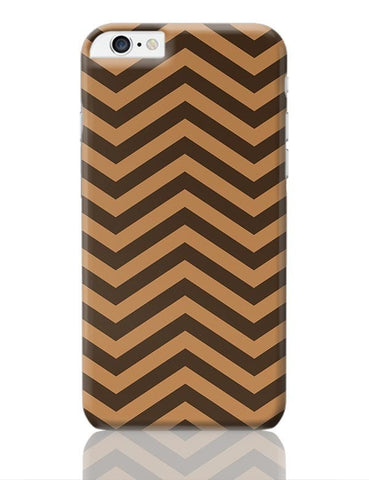 Brown Zig-Zag iPhone 6 Plus / 6S Plus Covers Cases Online India