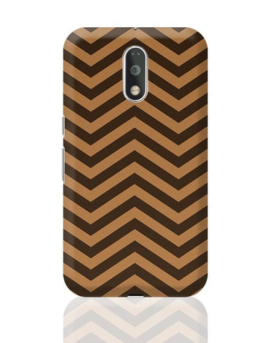 Brown Zig-Zag Moto G4 Plus Online India