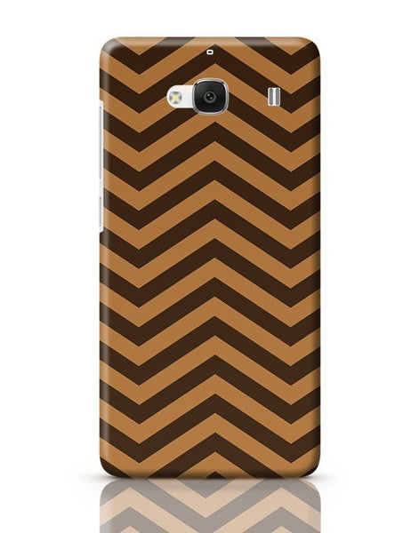 Brown Zig-Zag Redmi 2 / Redmi 2 Prime Covers Cases Online India
