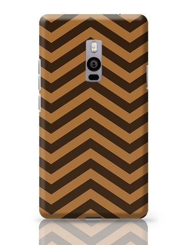 Brown Zig-Zag OnePlus Two Covers Cases Online India