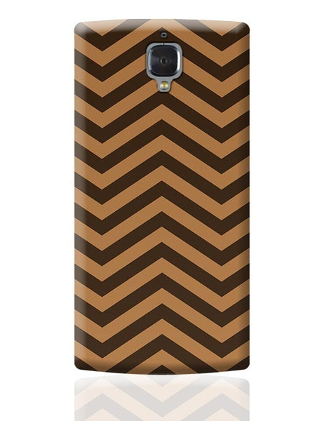 Brown Zig-Zag OnePlus 3 Covers Cases Online India