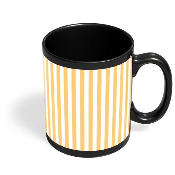 Orange Stripes Black Coffee Mug Online India