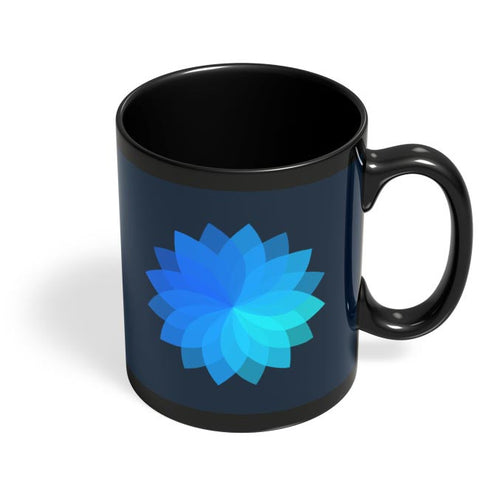 Flower V2 Black Coffee Mug Online India