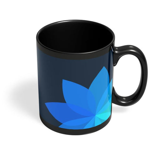Flower V3 Black Coffee Mug Online India
