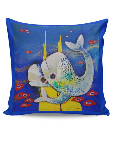 PosterGuy | Fish Cushion Cover Online India