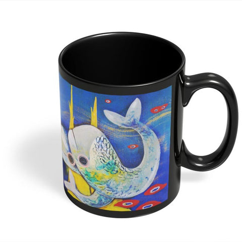 Coffee Mugs Online | Fish Black Coffee Mug Online India