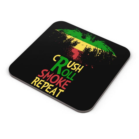 Buy Coasters Online | Crush Roll Repeat Coasters Online India | PosterGuy.in