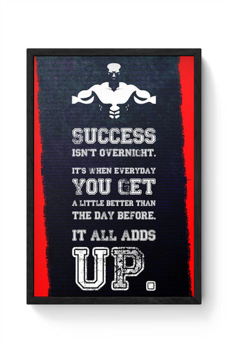 Work Hard Framed Poster Online India