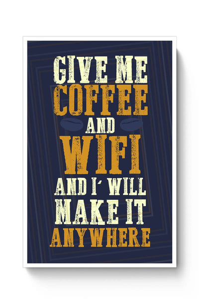 Coffee & Wifi Poster Online India