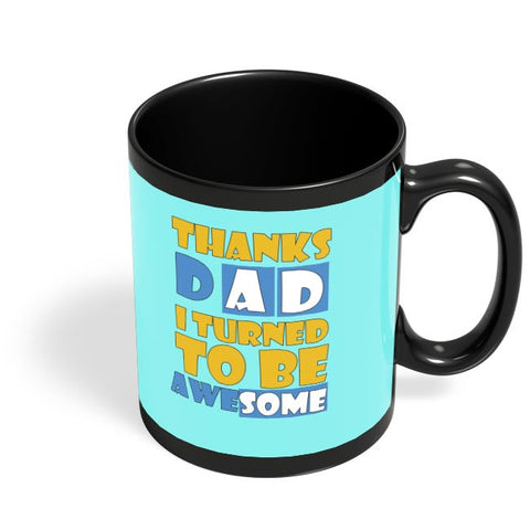 Awesomedad Black Coffee Mug Online India