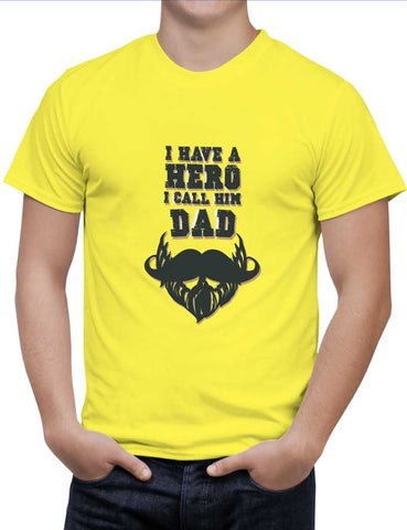 Buy My Dad Is My Hero Woman T-Shirts Online India | My Dad Is My Hero T-Shirt | PosterGuy.in