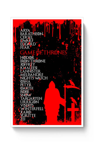 Buy Thrones Typography Poster