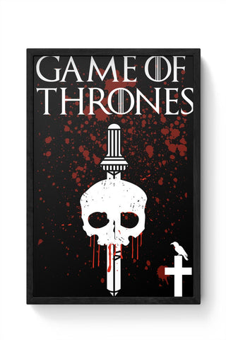 Thrones Typography Framed Poster Online India