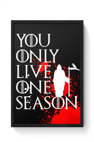 One Season Framed Poster Online India