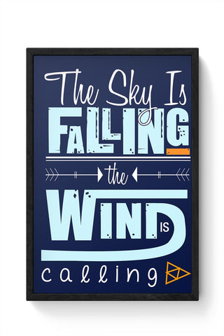 The Wind is coming Framed Poster Online India