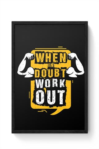 Work Out Framed Poster Online India