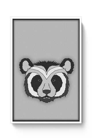 Posters Online | Pattern Panda 001 White Poster Online India | Designed by: Mannupotter8383