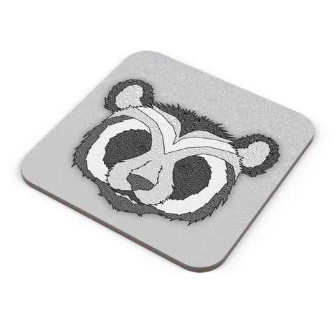 Buy Coasters Online | Pattern Panda 001 White Coasters Online India | PosterGuy.in