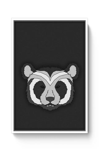 Posters Online | Pattern Panda 001 Black Poster Online India | Designed by: Mannupotter8383