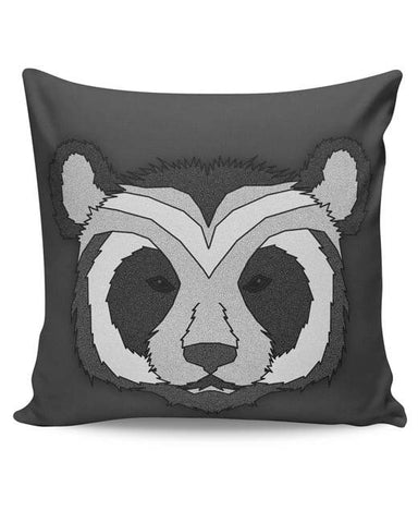PosterGuy | Pattern Panda 001 Black Cushion Cover Online India