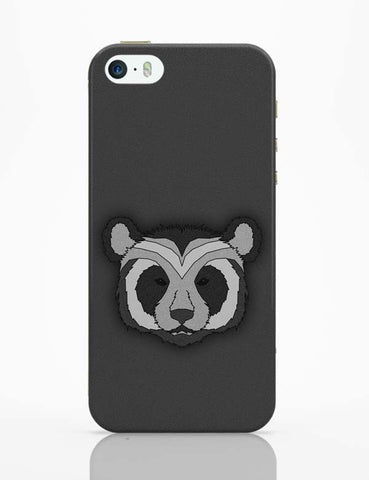 iPhone 5 / 5S Cases & Covers | Pattern Panda 001 Black iPhone 5 / 5S Case Cover Online India