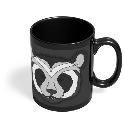 Coffee Mugs Online | Pattern Panda 001 Black Black Coffee Mug Online India