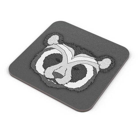 Buy Coasters Online | Pattern Panda 001 Black Coasters Online India | PosterGuy.in